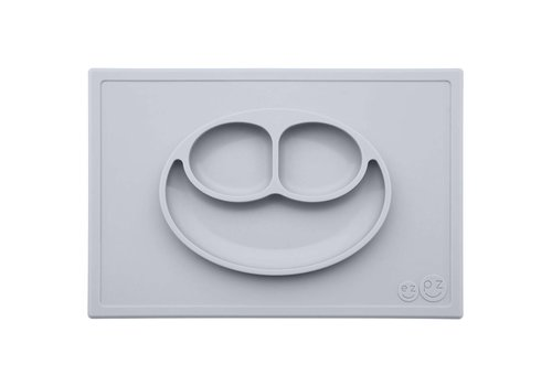 EZPZ EZPZ Placemat + Plate Happy Mat Pewter