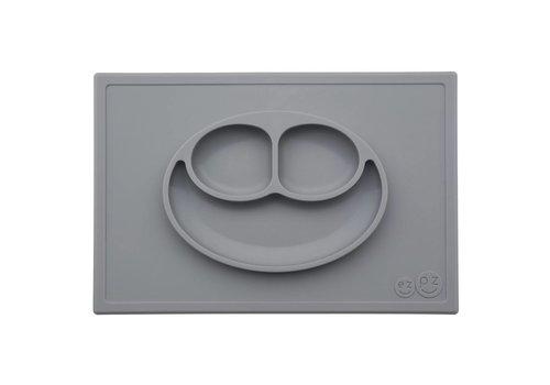 EZPZ EZPZ Placemat + Plate Happy Mat Grey