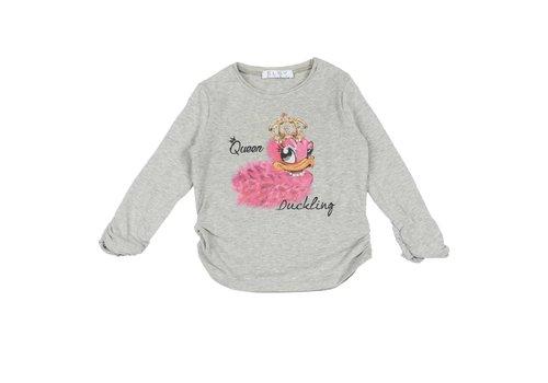 Elsy Elsy T-Shirt Queen Duckling Grijs