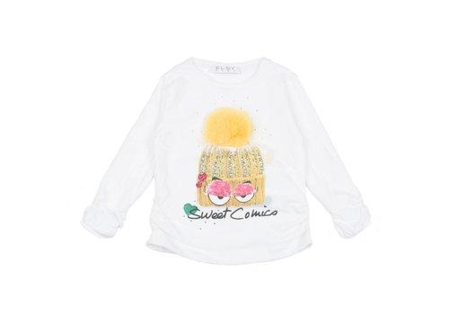 Elsy Elsy T-Shirt Sweet Comics Off-white