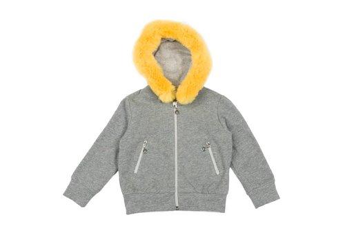 Elsy Elsy Sweater With Hood Clorinda Grey
