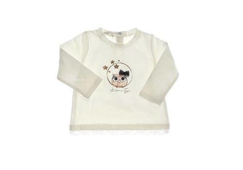 Liu Jo Liu Jo T-Shirt Vogeltje Ecru
