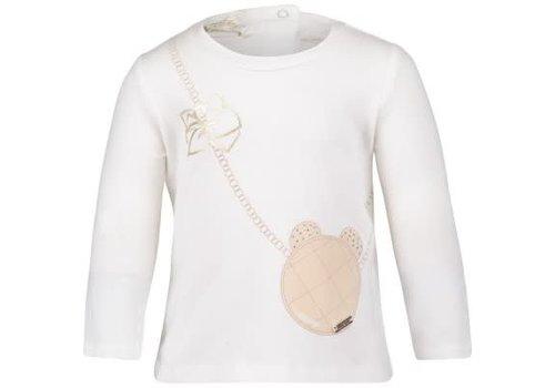 Liu Jo Liu Jo T-Shirt Ecru Handtasje
