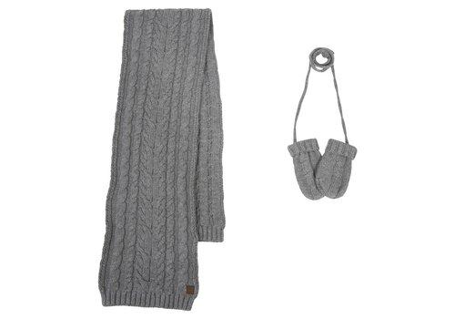 Tartine Et Chocolat Tartine & Chocolat Sjaal + Handschoenen Grijs