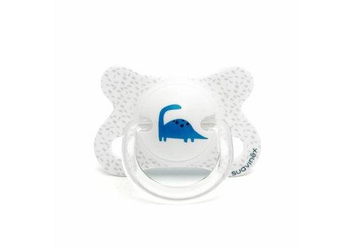 Suavinex Suavinex Fopspeen Silicone Physical -2 - 4M Wit Blauwe Dino