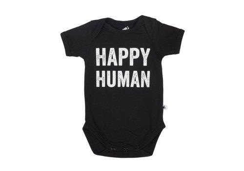 Cos I Said So Cos I Said So Romper Happy Human Zwart