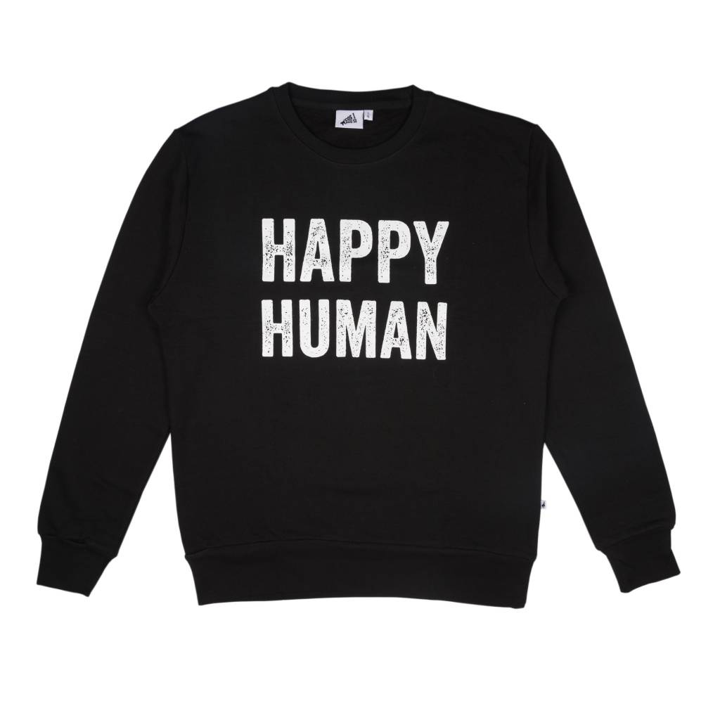 b78aa68c2812 Cos I Said So Cos I Said So Sweater Adult Men Happy Human Black ...