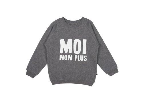 Cos I Said So Cos I Said So Sweater Moi Non Plus Antraciet