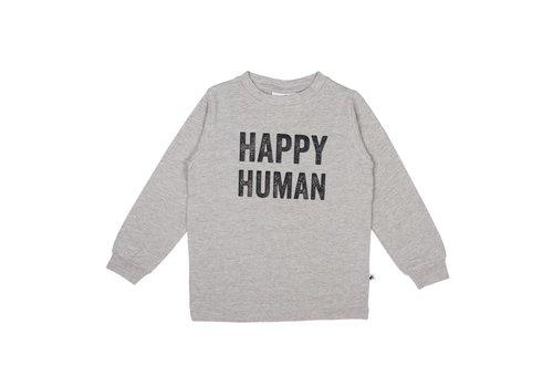Cos I Said So Cos I Said So T-Shirt Lange Mouwen Happy Human Grijs
