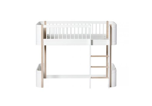 Oliver Furniture Oliver Furniture Bed Wood Mini+ White - Oak 0 - 9 Year