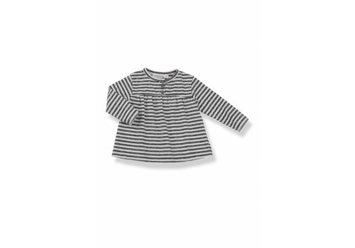 1+ In The Family 1+ In The Family T-Shirt Anthracite Stripes