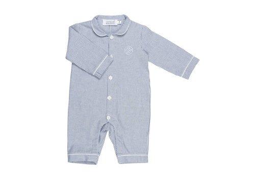Cotolini Cotolini Pyjama BB Flanelle Rayure Navy