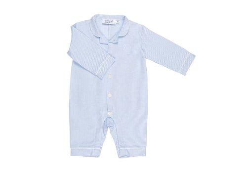 Cotolini Cotolini Pyjama BB Flanelle Rayure Ciel