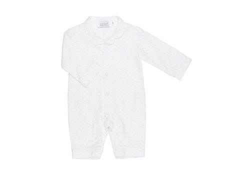 Cotolini Cotolini Pyjama BB Flanelle Pois Wit - Roze