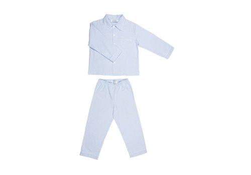 Cotolini Cotolini Pyjama Mathieu Flanelle Gestreep Ciel - Wit