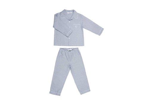 Cotolini Cotolini Pyjama 2 Delig Mathieu Flanelle Gestreept Navy Gestreept