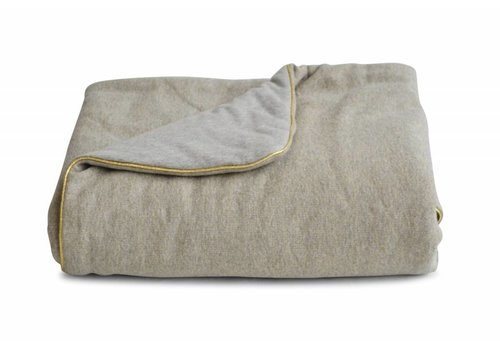 Coco & Pine Coco & Pine Baby Crib Blanket Jersey Grey/Gold