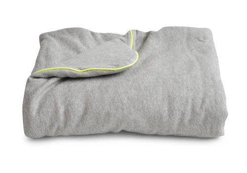 Coco & Pine Coco & Pine Baby Crib Blanket Jersey Grey/Yellow