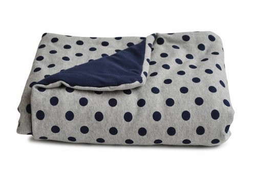 Coco & Pine Coco & Pine Baby Crib Blanket Spots Marine