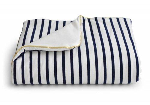 Coco & Pine Coco & Pine Baby Crib Blanket Stripes White/Gold