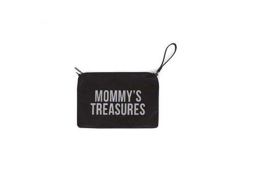 Childhome Childhome Mommy Clutch Toilettas Zwart - Zilver