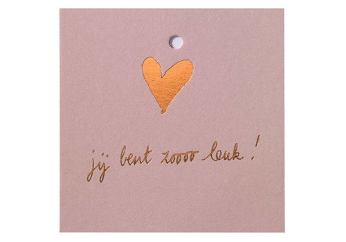Papette Papette Mini Card 'Je Bent Zoo Leuk'