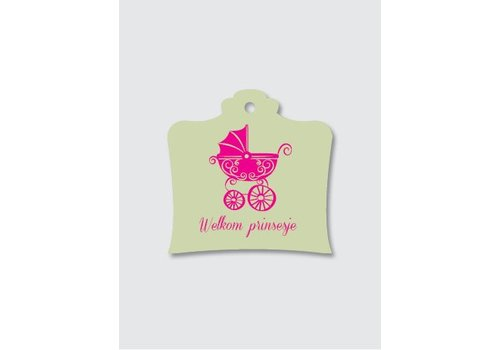 Papette Papette Greeting Card 'Welkom Princessje'