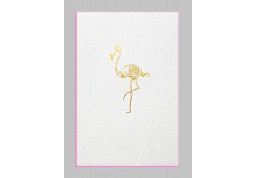 Papette Papette Kaart + Envelop Flamingo 115 x 165mm