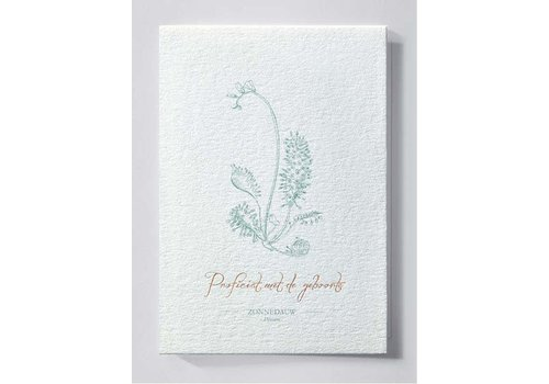 Papette Papette Greeting Card Zonnedauw - Proficiat With The Birth