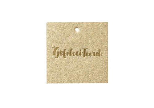 Papette Papette Cadeaukaartje 'Gefeliciteerd'