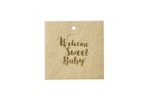 Papette Papette Greeting Card 'Welcome Sweet Baby'