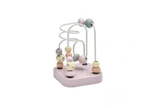 Kids Concept Kid's Concept Spelbaan Met Kralen Mini Edvin Roze