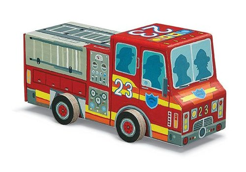 Bertoy Bertoy Vehicle Puzzle - Fire Truck 48 Pieces