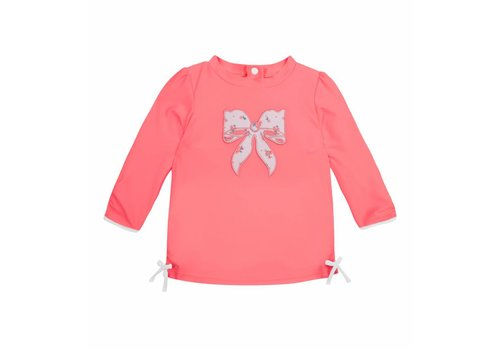 Sunuva Sunuva Swim Shirt Pink With Bow
