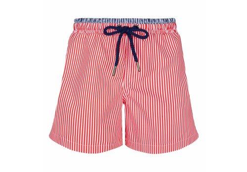 Sunuva Sunuva Swimming Shorts Red - White Stripes