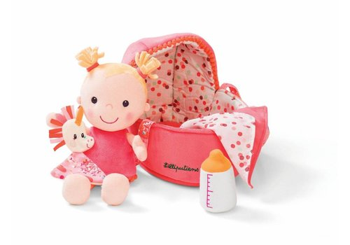 Lilliputiens Lilliputiens Baby Louise Doll With Cradle