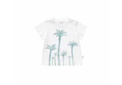 Il Gufo Il Gufo T-Shirt Wit - Sage Groen Palmbomen