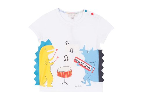 Paul Smith Paul Smith T-Shirt Wit Dino Muziek