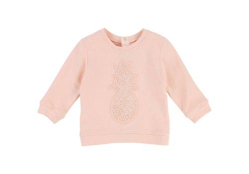 Chloe Chloe Sweater 'Ananas' Poudre Roze