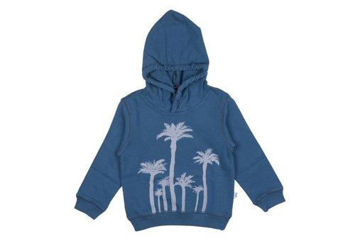 Il Gufo Il Gufo Sweater Palmbomen Blauw