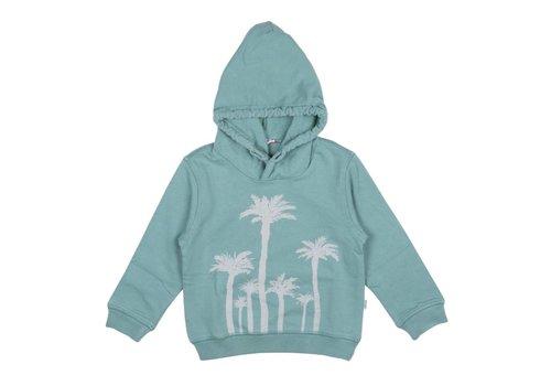Il Gufo Il Gufo Sweater Palmbomen Groen