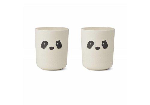 Liewood Liewood Beker Bamboo Panda Creme De La Creme 2 Pack