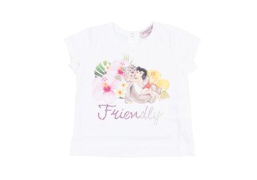 Monnalisa Monnalisa T-Shirt Wit 'Friendly'