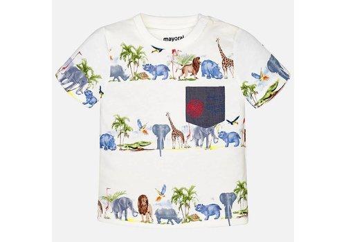 Mayoral Mayoral T-Shirt Cream Jungle