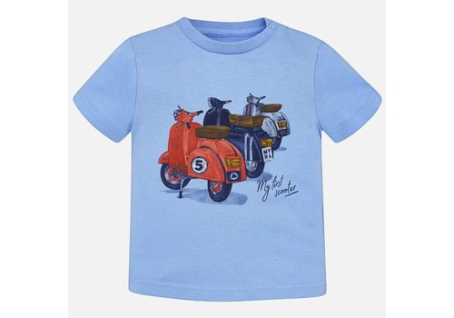 Mayoral Mayoral T-Shirt 'My First Scooter' Blauw
