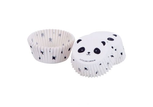 A Little Lovely Company A Little Lovely Company Cupcake Vormpjes Panda 50 Stuks