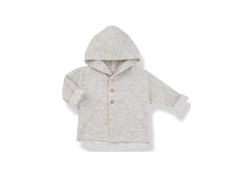 1+ In The Family 1+ In The Family Jacket With Hood Barcelo Natural