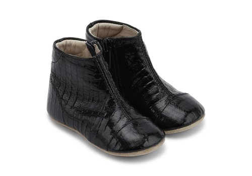 Petit Nord Petit Nord Shoes With Zipper Black Snake