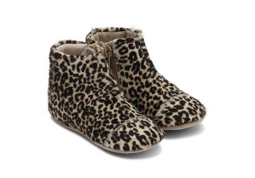 Petit Nord Petit Nord Shoes With Zipper Black - White Panter