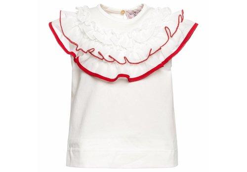 Monnalisa Monnalisa Shirt Kraag Rood